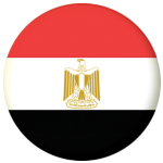Egypt Country Flag 25mm Pin Button Badge